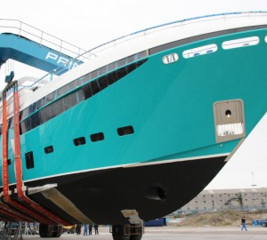 Princess 40M superyacht ANKA in her final stage of fit-out - Image by Princess Yachts International plc