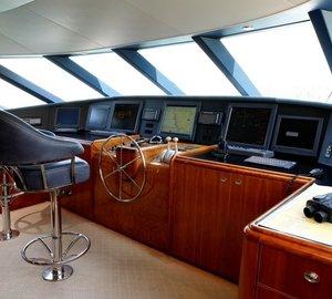 Pilot House On Yacht ENDLESS SUMMER