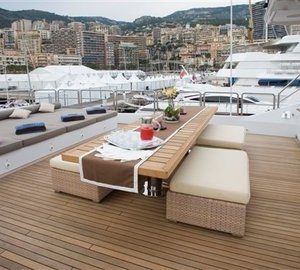 Sun Deck Sitting On Yacht SENSEI