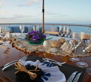 Bridgedeck Deck Eating/dining On Yacht LADY J