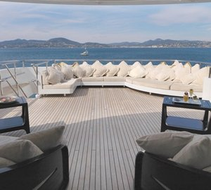 Sun Deck Aboard Yacht MY LITTLE VIOLET