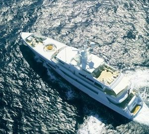 Aft: Yacht OL MI DA's From Above Aspect Photograph