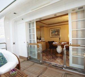 Main Master Balcony / Terrace On Board Yacht PEGASUS VIII