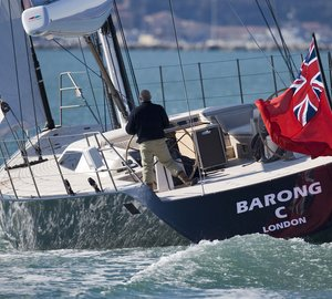 Yacht BARONG C By Wally - Transom Under Sail