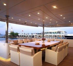 External Eating/dining Aboard Yacht TATIANA