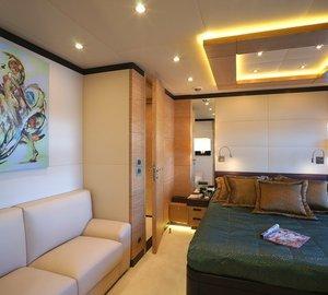 Sitting: Yacht TATIANA's Green Cabin Pictured