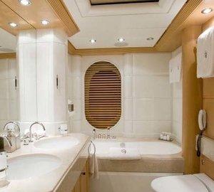 Main Master Bath On Board Yacht MALIBU