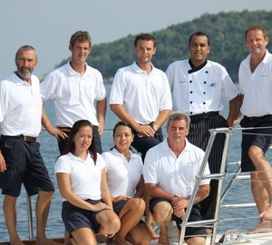 Crewmember's On Board Yacht DOUCE FRANCE