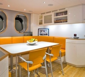 Eating/dining Zone On Board Yacht LADY S