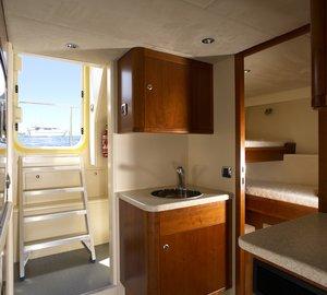 Far Niente yacht crew area