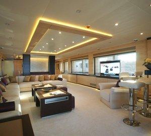 Main salon on board of yacht Tatiana by Bilgin Yachts