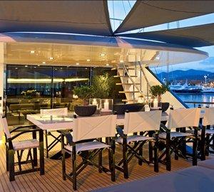 Sailing Yacht Infinity -  Al fresco dining