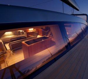 Sailing yacht Sarissa -  On Deck at night