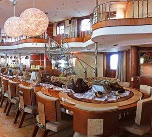 Yacht SHERAKHAN -  Formal Dining