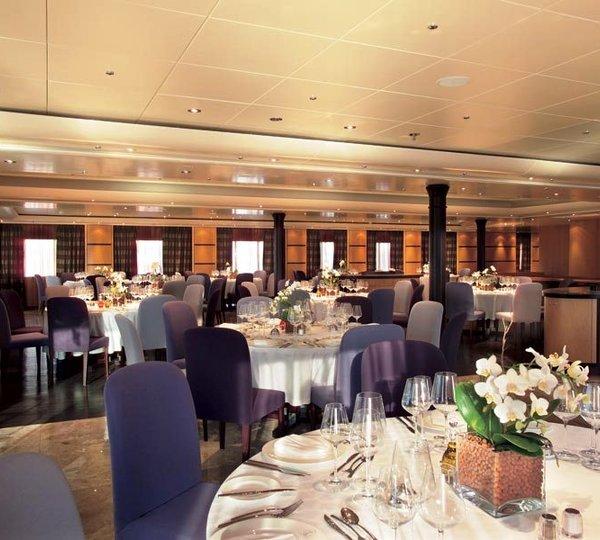Main Dining Room: Yacht TURAMA, Luxury Yacht