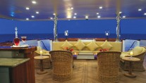 Yacht MUSTIQUE Aft Deck - Image by Trinity Yachts