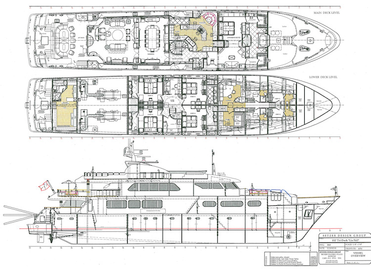 Boat Design Drawings Motor Yacht Line Drawing