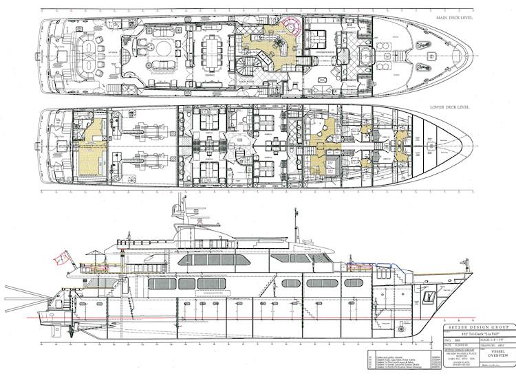Art Line Yacht Interior Design : Yacht design drawings