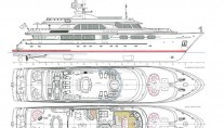 Yacht SORCHA - Drawing by Zetzer Design