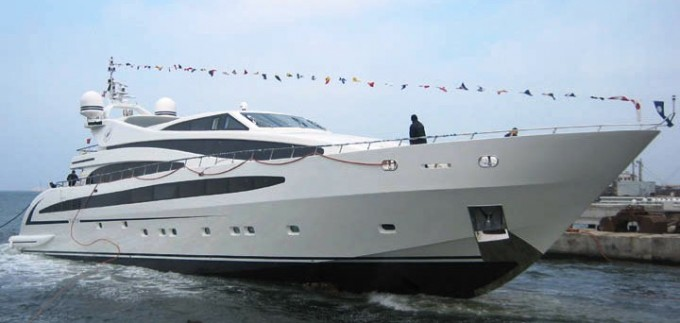 Yacht TVTB at her launch