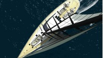 Sailing yacht VALQUEST courtesy of 3D Shipart.