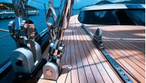 Sailing Yacht ALITHIA Deck - Image by yacht ALITHIA