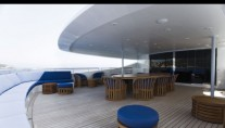 Yacht Blue Scorpion Aft Deck - Image by Baglietto Yachts