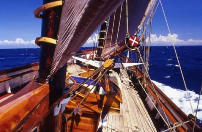 The twin masted schooner Midsummer