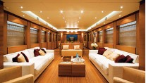 LAZY ME Saloon - Image Courtesy of AKHIR Yachts