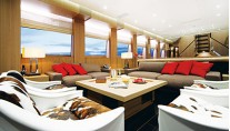 LAZY ME Saloon 2 - Image Courtesy of AKHIR Yachts