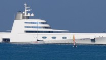 Motor Yacht A - Anchored off Monaco