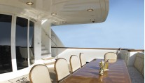 Yacht MIRGAB V Aft Deck - Image by Burger Yachts