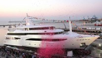 Yacht Tacanuyaso M S at launch - Image by CRN