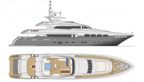 Yacht SANTA CRUZ - Renering by Mondomarine