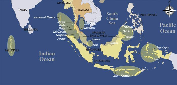 Asia Yacht Charter Area Map