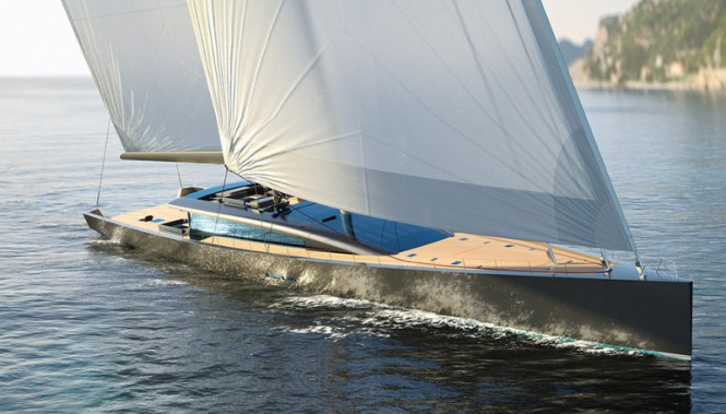 CNB 180 sailing yacht Evoë concept designed by Berret-Racoupeau - Photo courtesy of CNB Superyachts
