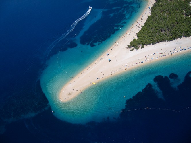 Island of Brac  in Croatia - Bol beach