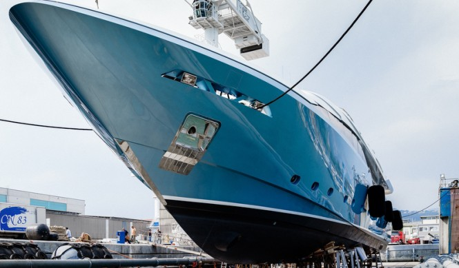 Launch of Admiral Regale 45 Yacht Flying Dragon at The Italian Sea Group Shipyard in Marina di Carrara, Italy