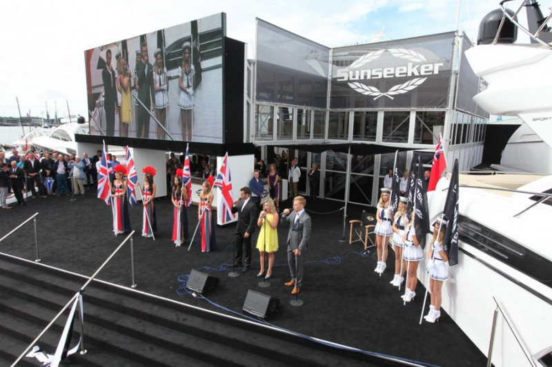 Sunseeker at London Boat Show in 2013
