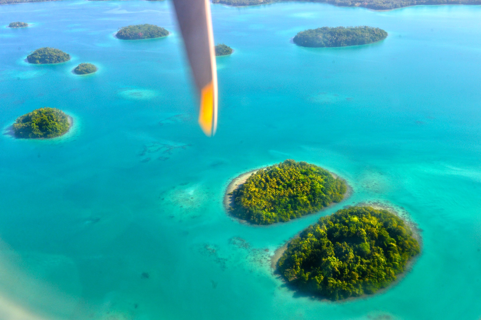 Aerial view – Vona Vona Lagoon, Munda, Western Province - Photo credit to Solomon Islands Visitors Bureau (SIVB)