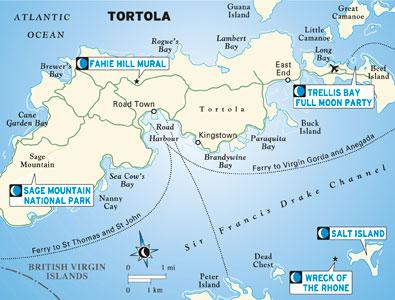 Map of Tortola