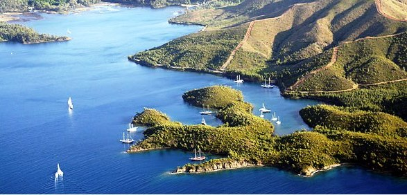 Photo of the Carian Coast in Turkey.