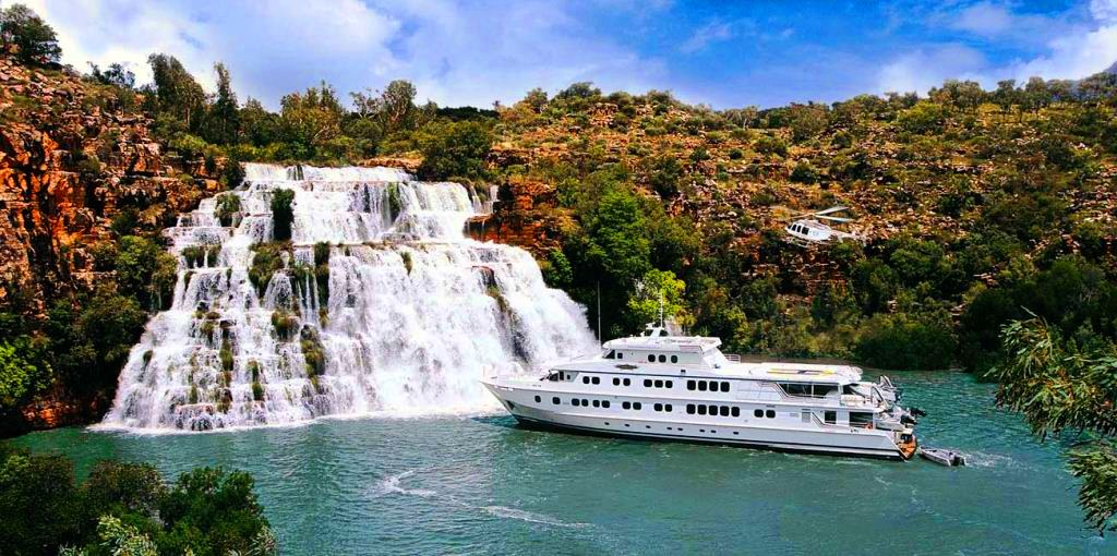 Luxury motor yacht True North in The Kimberleys, Western Australia