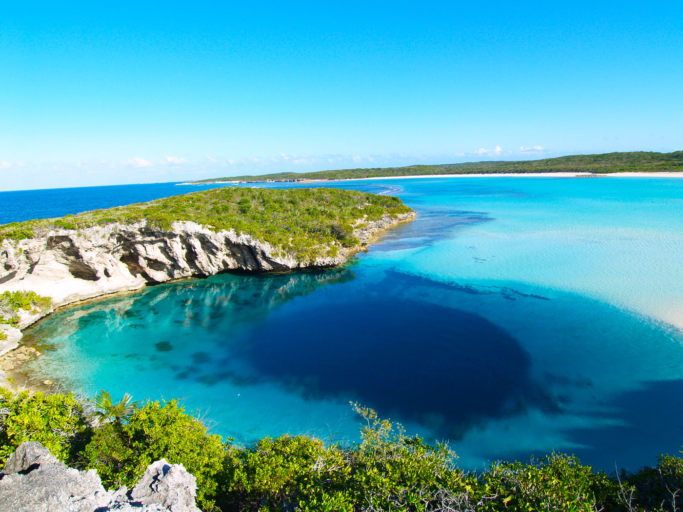 The Blue Hole in the Bahamas