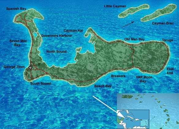 The Cayman Islands Map
