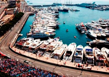 The SuperYachts at the Monaco Grand Prix Race