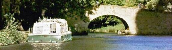 canal boat on du midi, France