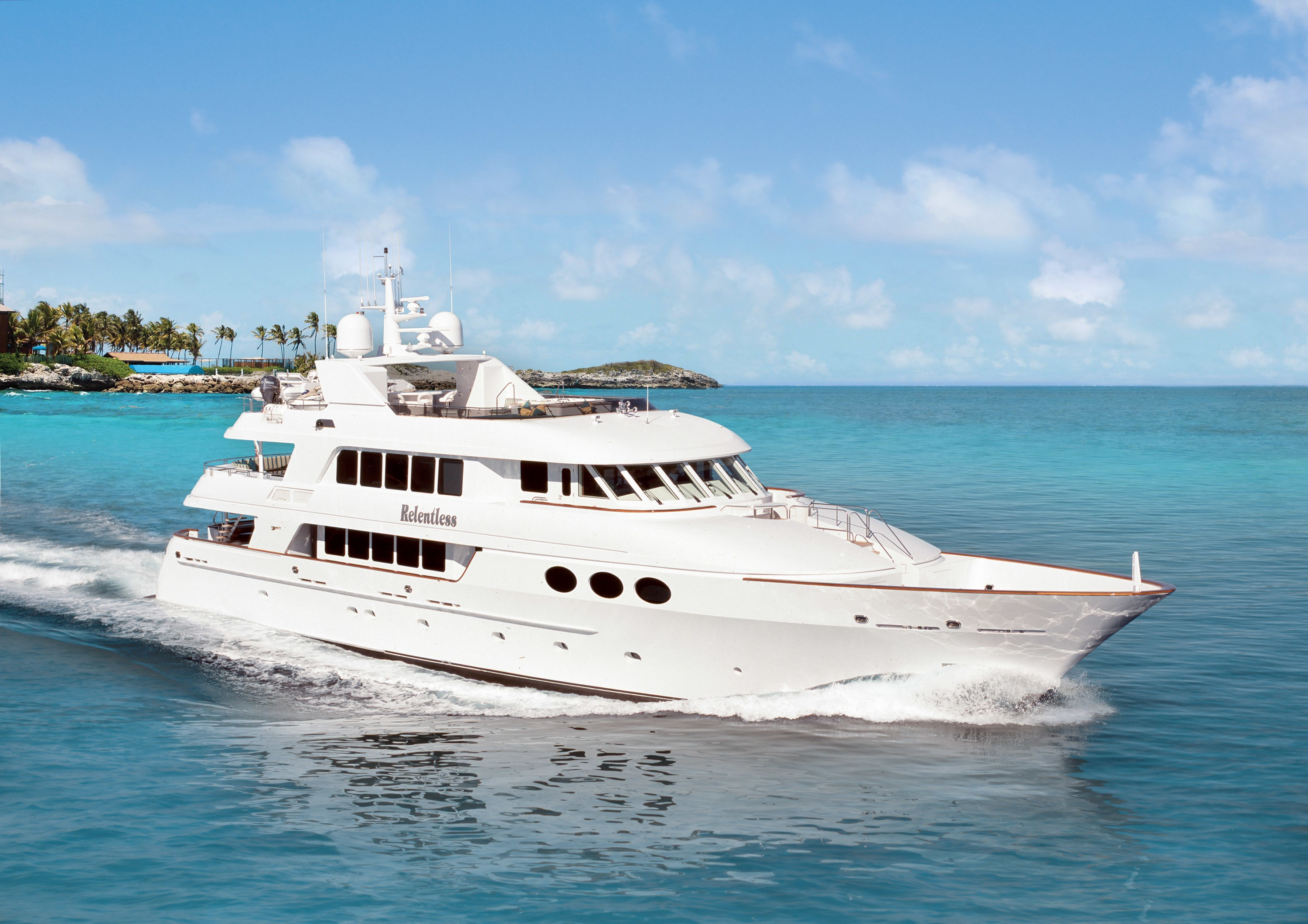 relentless yacht charter details  trinity yachts