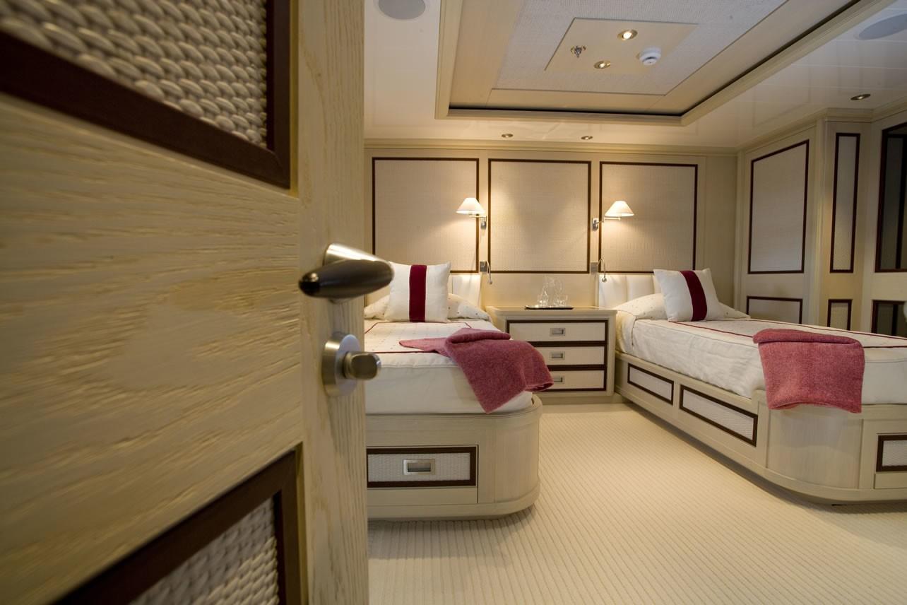 Twin Bed Cabin On Board Yacht ODESSA