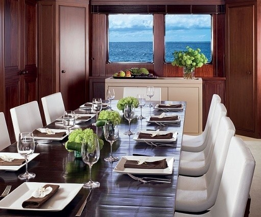 Eating/dining Furniture Set On Board Yacht CYAN